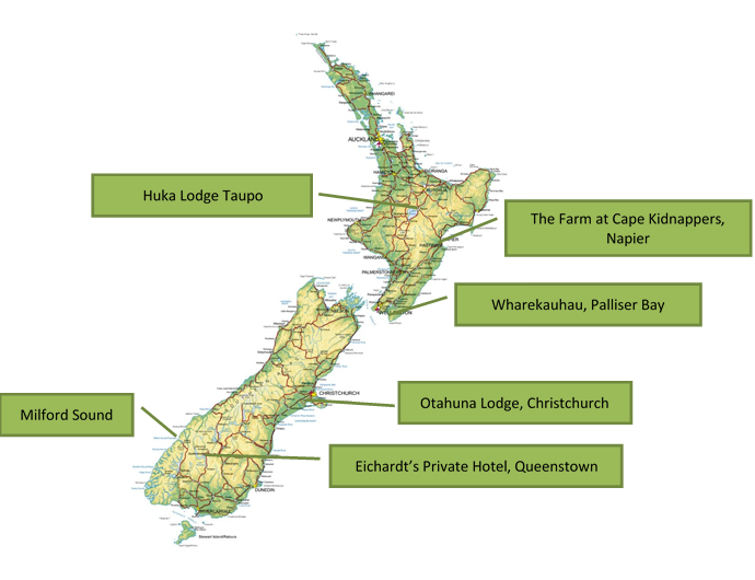 Map of New Zealand in Style