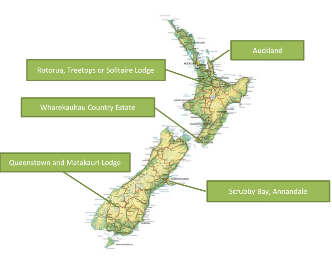 Map of New Zealand Family Adventure